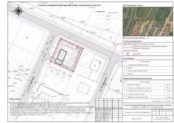 Схема участка по индивидуальное жилое строительство