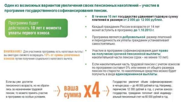 Программа софинансирования для лиц, достигших пенсионного возраста