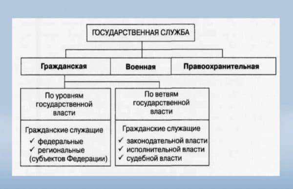 Классификация государственной службы