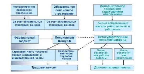 Структура пенсионное страхование