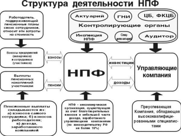 Структура деяельности НПФ